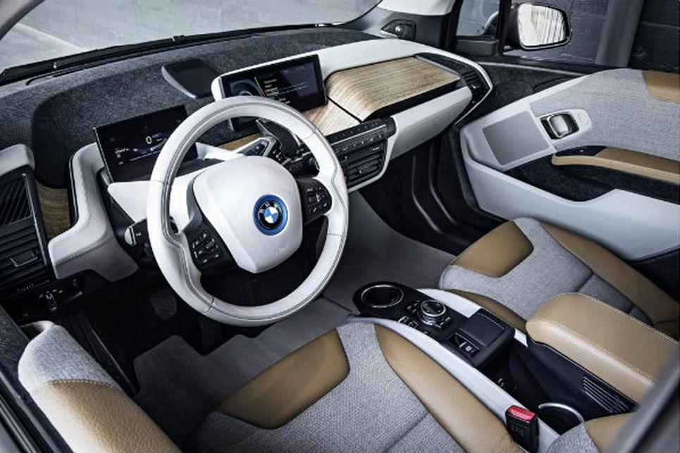 BMW i3, direksiyon, ön konsol, sürücü koltugu