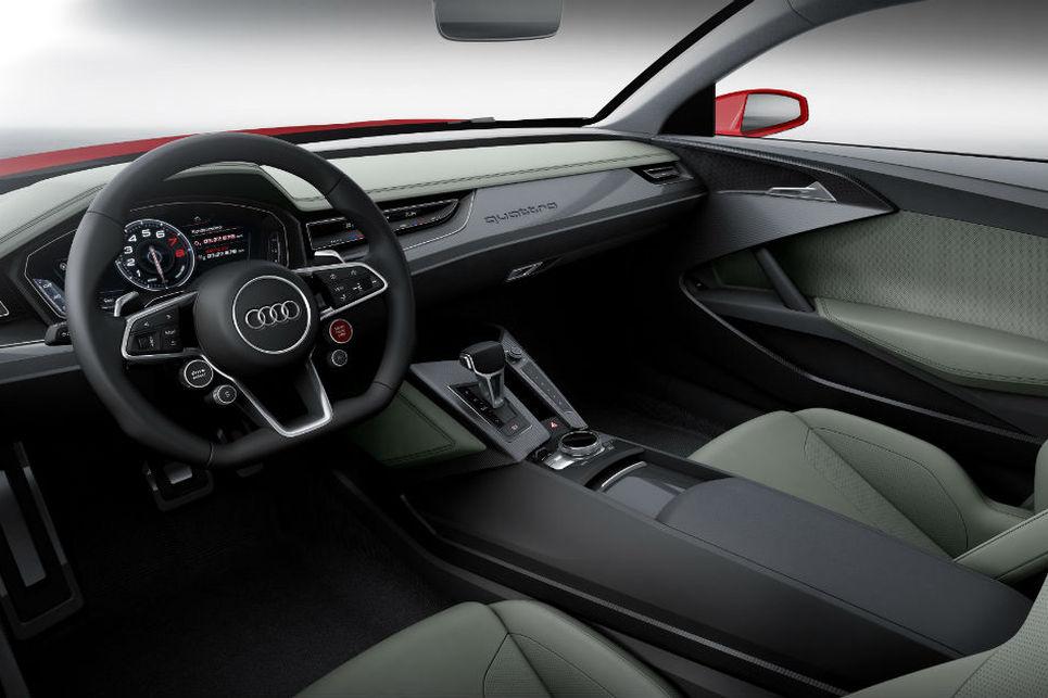 Audi hibrid sport quattro iç alan, kabin, ön konsol