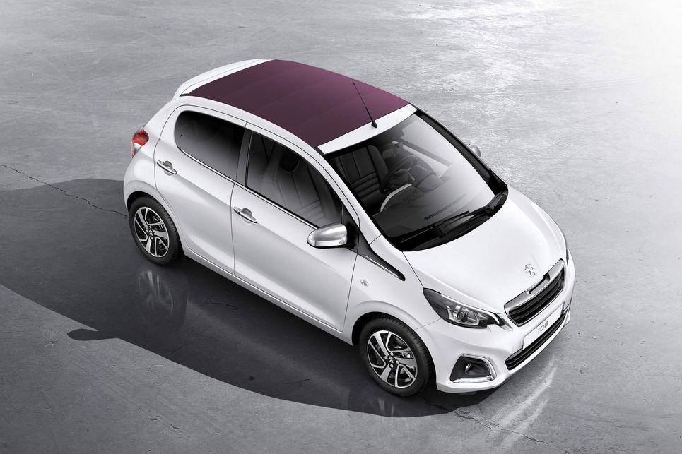 Peugeot 108, mor, beyaz, peugeot, şehir otomobili