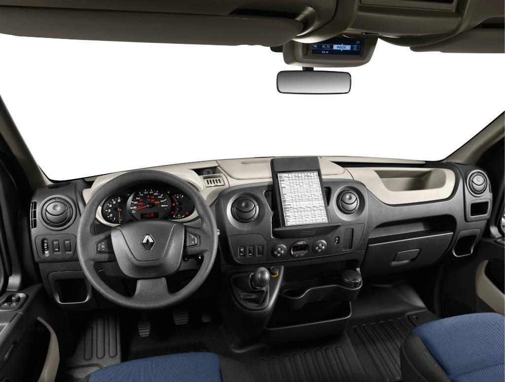Renault Master, iç alan, kabin, direksiyon, ön konsol