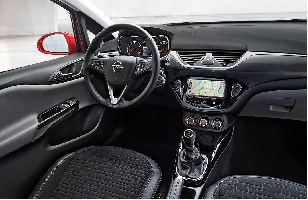 Opel Corsa, iç alan, kabin, kokpit