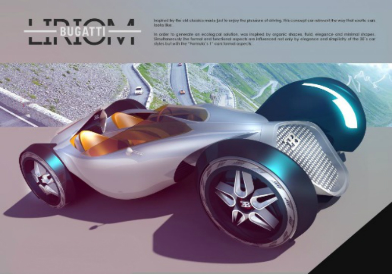 otomobil tasarım yarışması, bugatti