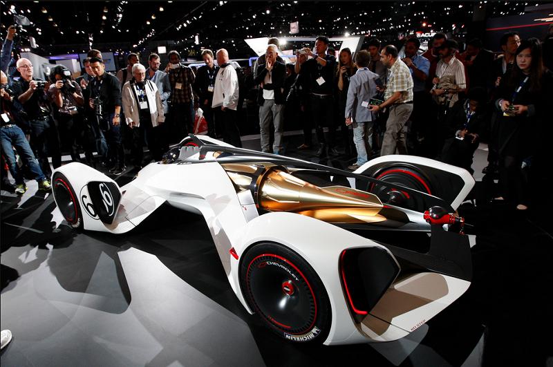 Gran Turismo oyunundan fantazi bir yarış otomobiili Chaparral 2X Vision