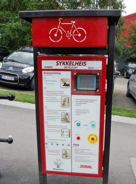bisiklet asansörü norveç
