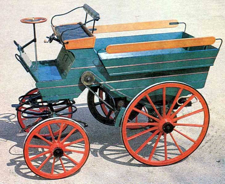 İşte ilk benzinli otomobil. Tam 8 hp gücünde ve modifiye idi.