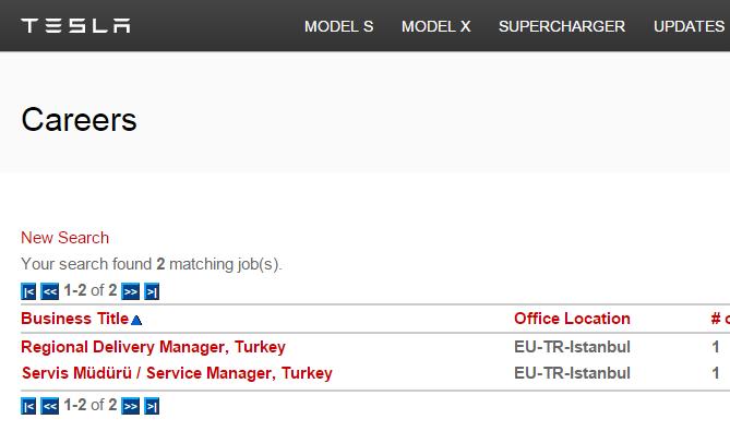 """Tesla'nın """"İstanbul"""" için iş ilanları yayında"""