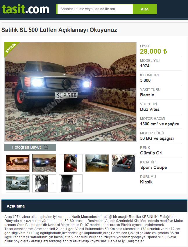 5 bin km'deki aracın fiyatı 28 bin TL