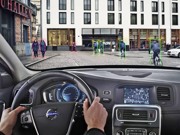 Volvo yaya ve bisiklet tanıma teknolojisi