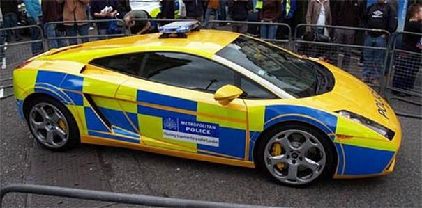 Lamborghini Gallardo ingiliz polis otosu