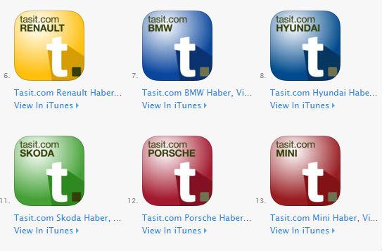 Tasit.com Renault, BMW, Porsche gibi otomobil Markaları mobil uygulama ios iphone ve ipad için yayınlandı