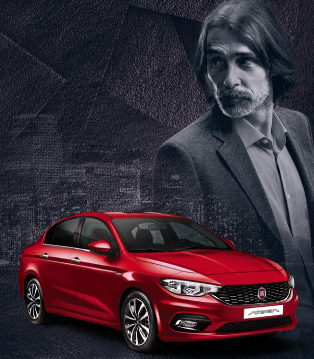Fiat Egea direksiyonunda Behzat Ç, Erdal Beşikçioğlu var. Reklam filmi tanıtımı