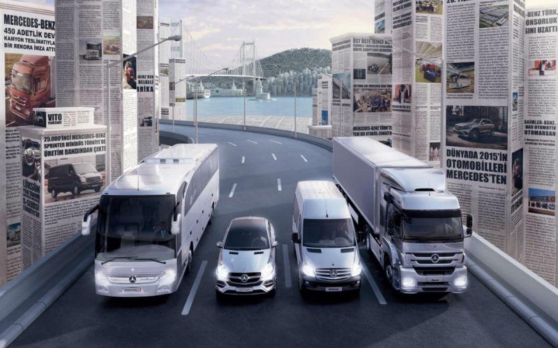 Mercedes Benz Türk otobüs kamyon hafif ticari ve otomobil satışları