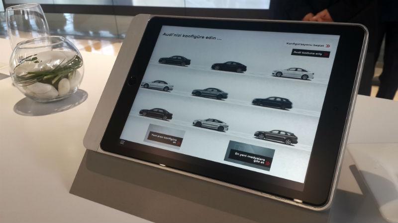 Audi City ipad konfigüratör