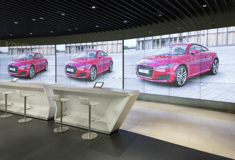 3 dijital dev ekranda farklı bir Audi deneyimi