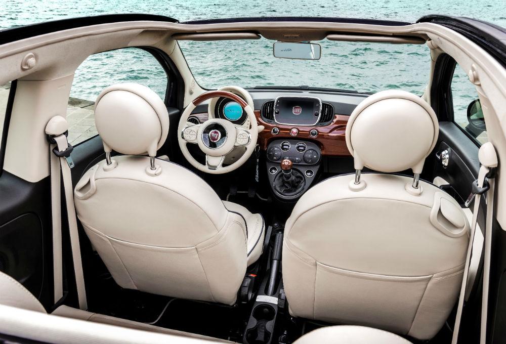 Fiat 500 riva kabinde yat konforu