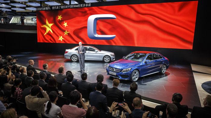 Mercedes'in Çin'in bir çok kentinde fabrikaları var.