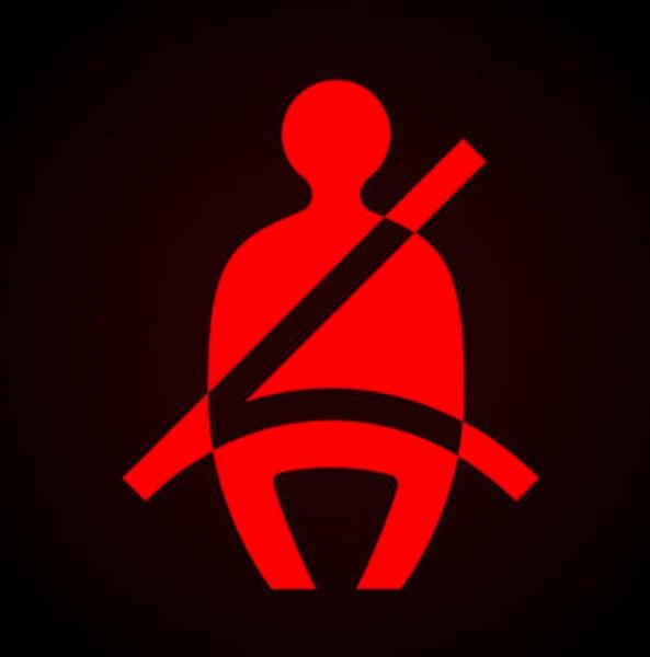 araba göstergeleri: emniyet kemeri uyarı lambası