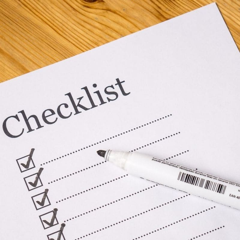 daily check list
