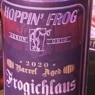 hoppin'FrogBrewery_barrel-AgedFrogichlausSwiss-StyleCelebrationLager(2020)