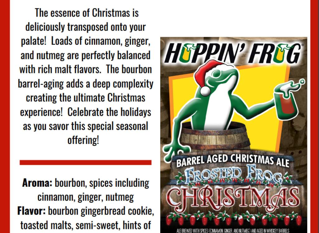 hoppin'FrogBrewery_barrel-AgedFrostedFrogChristmasAle(2021)*HOLIDAYBUNDLE*