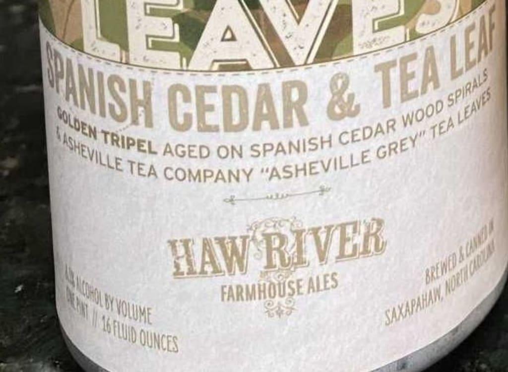 hawRiverFarmhouseAles_tornPaperLeaves:SpanishCedar&TeaLeaf