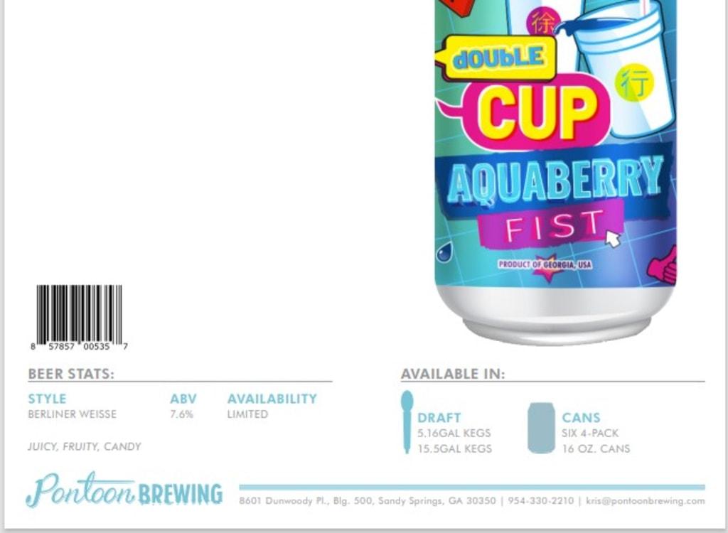 pontoonBrewingCompany_doubleCup:AquaberryFist