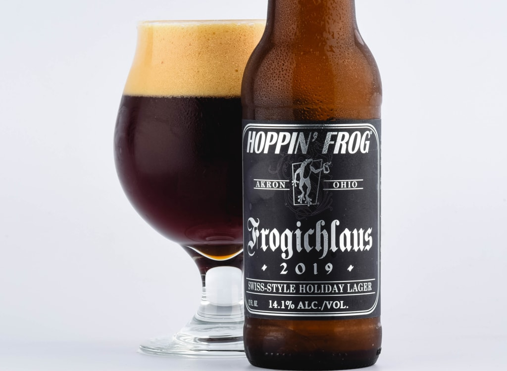 hoppin'FrogBrewery_frogichlausSwiss-styleHolidayLager(2019)