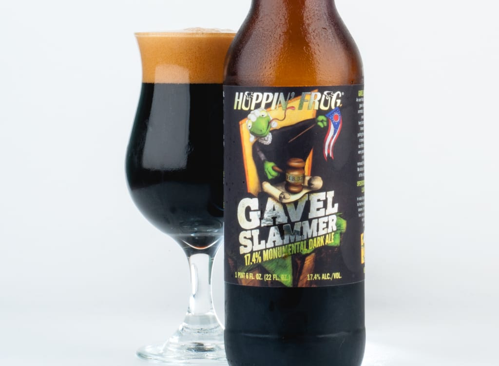 hoppin'FrogBrewery_gavelSlammer17.4%MonumentalDarkAle