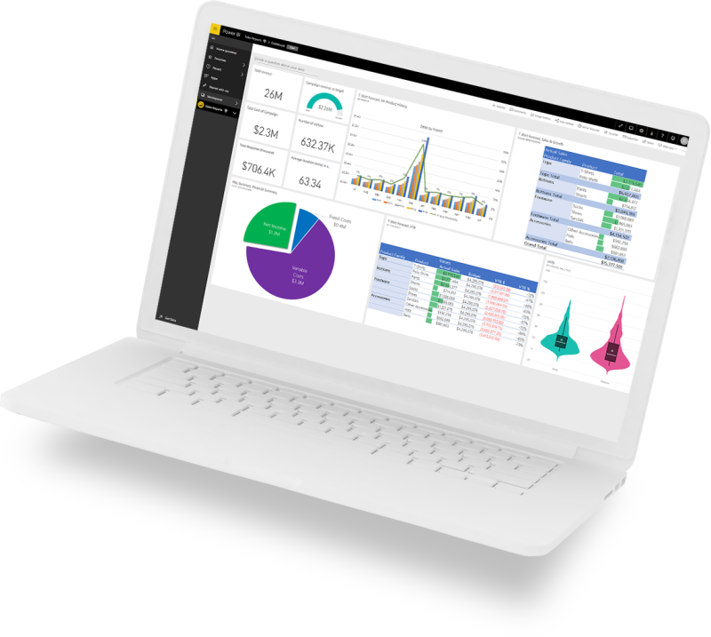 Power BI laptop image