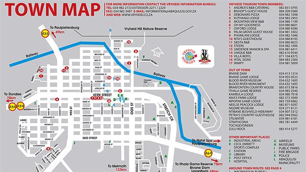 Vryheid tourist map u2szx7