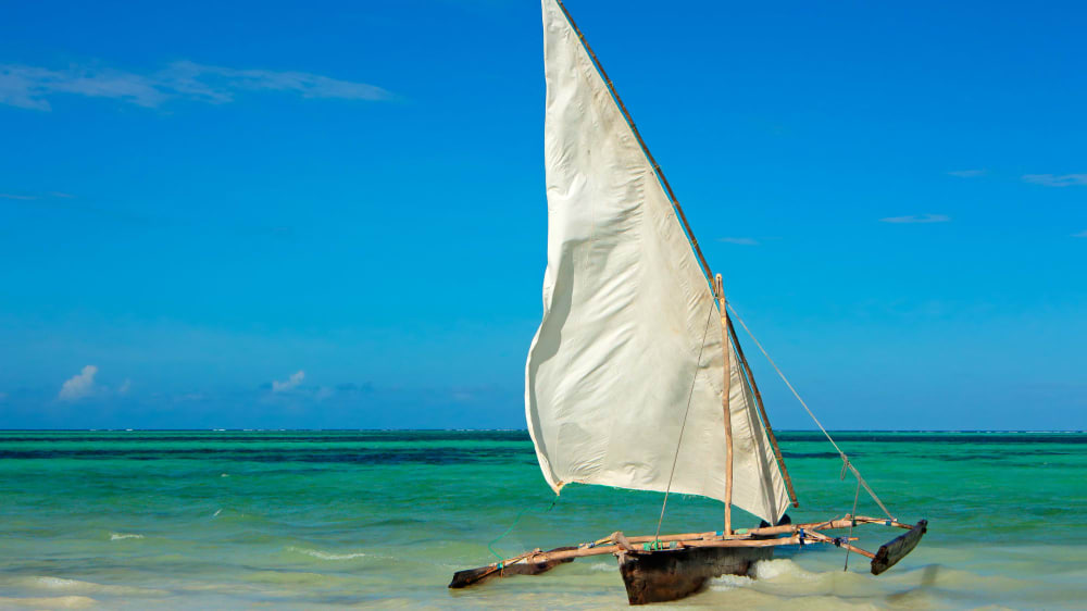 Dhow a traditional wooden sail boat rzn605