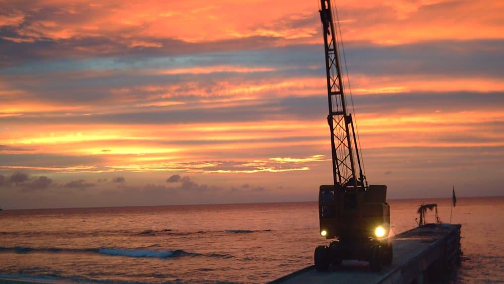 Sunset at port st james anchorage north island agelego pic httpwww.panoramio.comuser1396906 cdvfqc