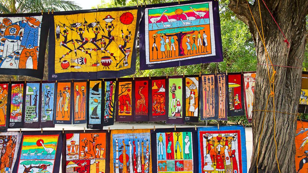 Batik art in maputo market kz9ytk