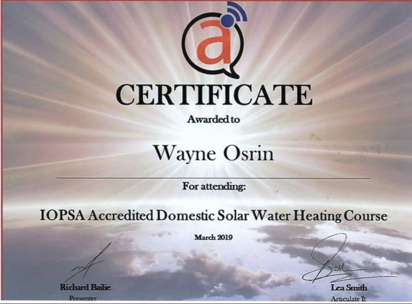 Solar Certificate