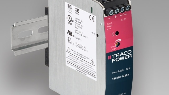 New Product: TRACO POWER's TIB 80-EX Power Supplies