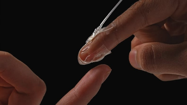 Artificial Skin Provides Haptic Feedback