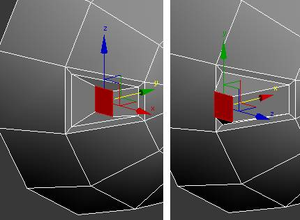 Pull Poly using Move on the toolbar in the y-axis in 3ds Max