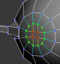 In 3ds Max while in Vertex mode turn on Soft Selection. Set Falloff at 4.0