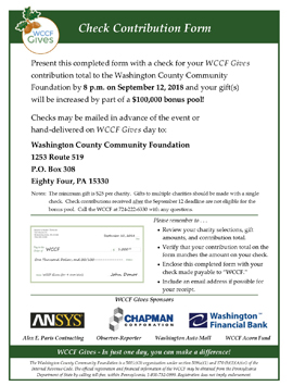2018 WCCF Gives Check Contribution Form FRONTsmall