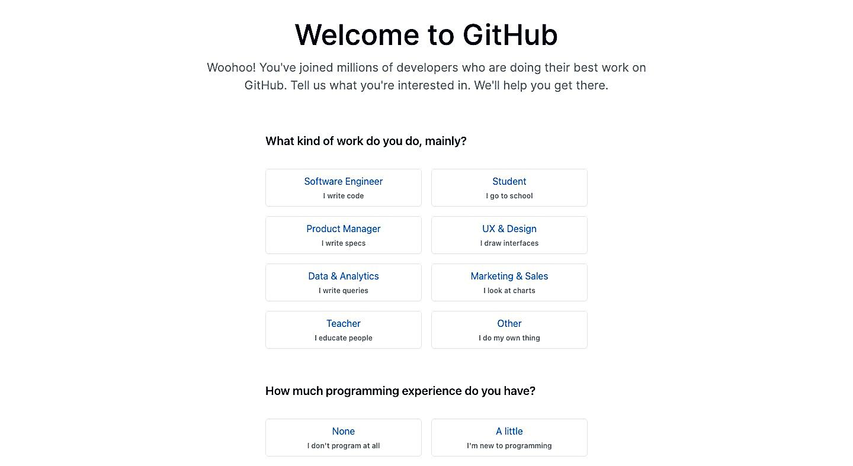 Hoàn tất thông tin tạo tài khoản Github