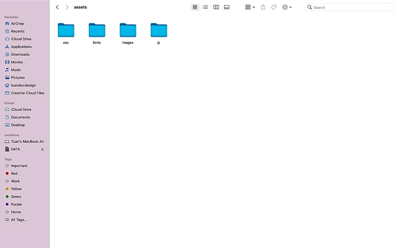 Tạo thư mục để lưu trữ file