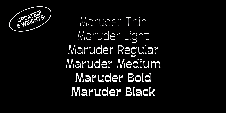 Maruder | The Designers Foundry