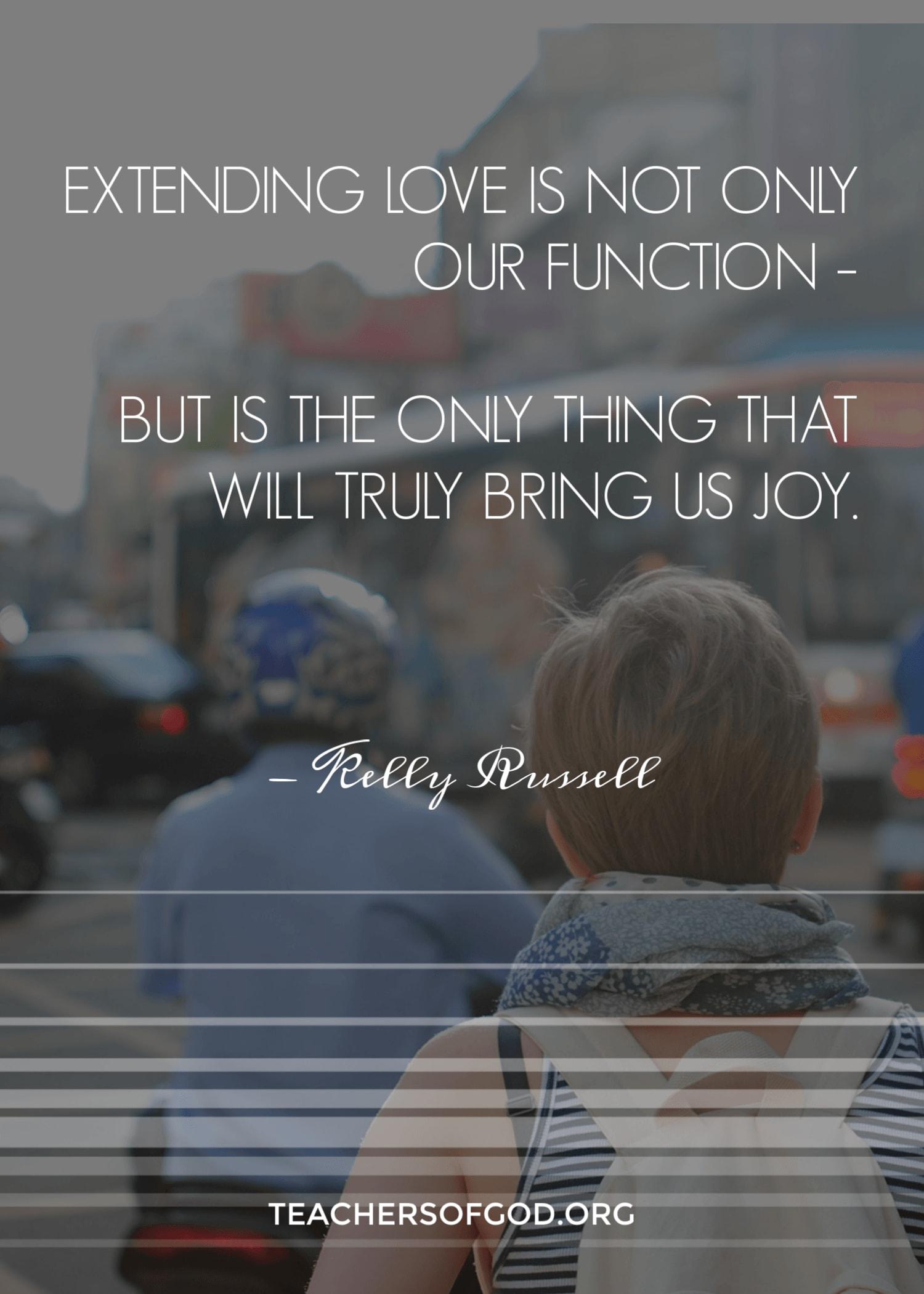 extending love