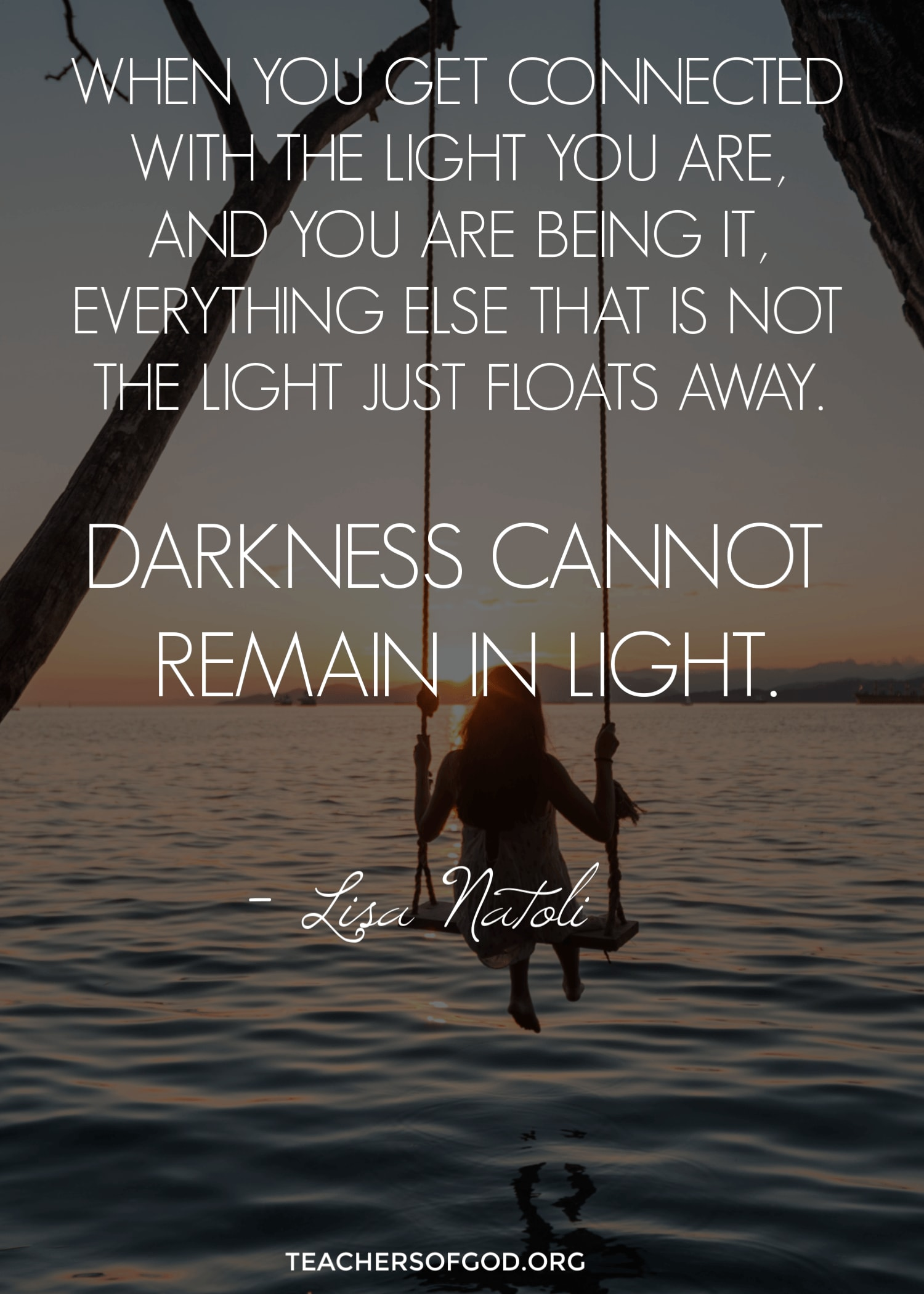 Darkness cannot remain in light