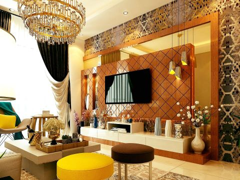 LIVING ROOM  Carafina Interior Designers