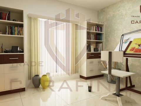 STUDY/OFFICE ROOM  Carafina Interior Designers