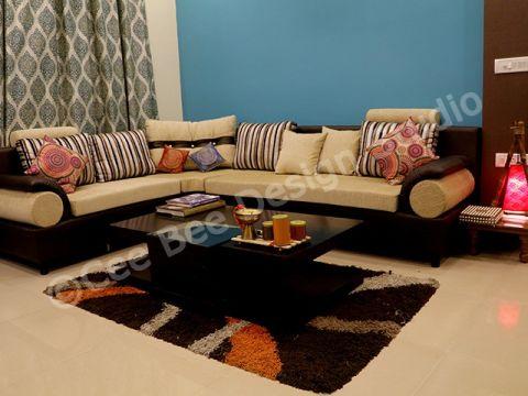 LIVING ROOM  Cee Bee Design Studio Interior Designer and Decorator in Bangalore