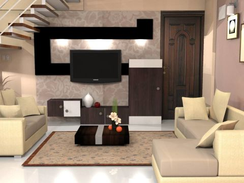 LIVING ROOM  Designspark Interiors