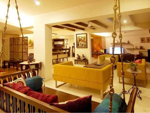 LIVING ROOM  Gayathri And Namith Architects
