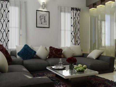 LIVING ROOM  Greentech Interiors